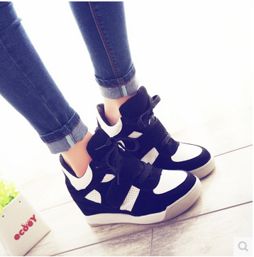 Lastest Genuine Leather Wedges Cut Outs Korean Casual Women Shoes Flats Boots