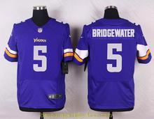 Men's free shiping A+++ quality Minnesota Vikings #5 Teddy Bridgewater(China (Mainland))