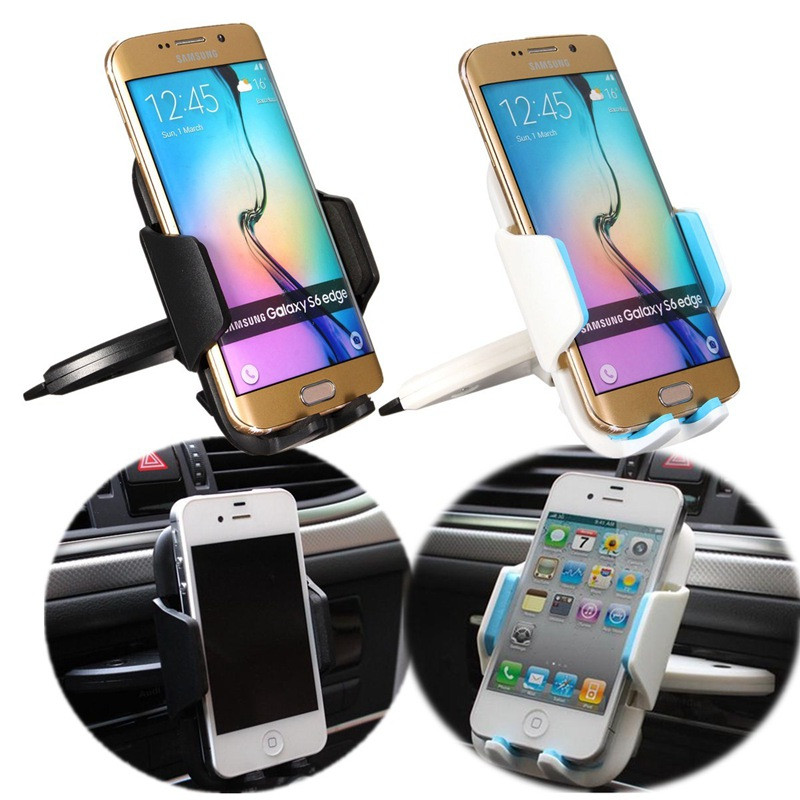 Hot Sale 360 degree Universal Car CD Slot Dash Phone Mount Stand Holder For iPhone 7 Plus 6 5SE 5 Samsung Galaxy S7 Edge S6 p9(China (Mainland))