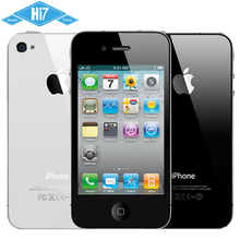 Mobile Phone Apple iPhone 4 Original Factory Unlocked 8GB 16GB 32GB ROM 5.0MP iOS 8 IPS 960×640 3.5″ WIFI 3G GPS