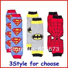 Newest Fashion Children Leg Warmers Baby Superman Batman Spiderman Leg Warmers Leggings Infant Big Discount 18pair/lot(China (Mainland))