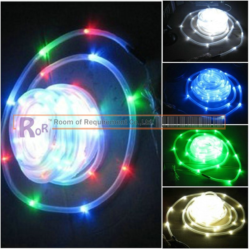 solar led tube lights,waterproof,5 colors,100pcs lights,neon sign,diving,underwater.party/christmas,English instruction(China (Mainland))
