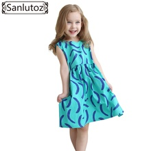 Girls Dress Summer 2016 Kids Clothes Cotton Children Clothing for Girls Toddler Summer Beach Party Holiday Brand