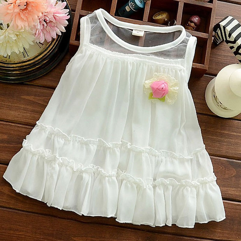 baby princess dress summer child clothes newborn baby tutu dresses for vestido carters baby girl 2015 summer party flowers dress(China (Mainland))
