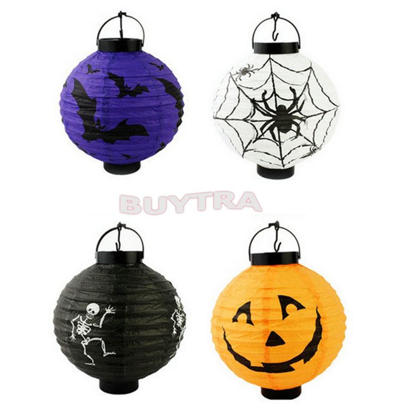 2015 New NovetlyHalloween Decoration Pumpkin Light Hanging Paper Lantern Lamp Outdoor Party Supplies(China (Mainland))