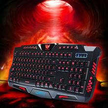 CEL Three Color Backlight M200 Multimedia Ergonomic Gaming Keyboard Wired NOV30