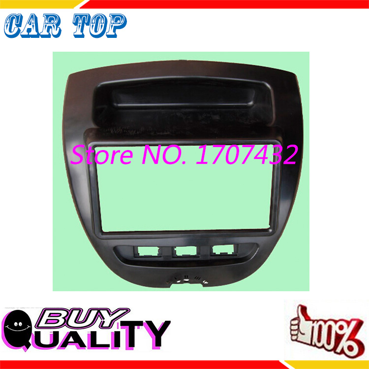 Double Din fascia for Toyota Aygo Citroen C1 Peugeot 107 Radio DVD Stereo Panel Dash Mounting Installation Trim Kit Frame Bezel<br><br>Aliexpress