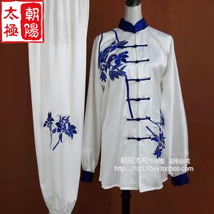 Customize Tai chi clothing/Martial arts wushu performance/taiji exercise game/azalea embroidery/women/little girl/children<br><br>Aliexpress