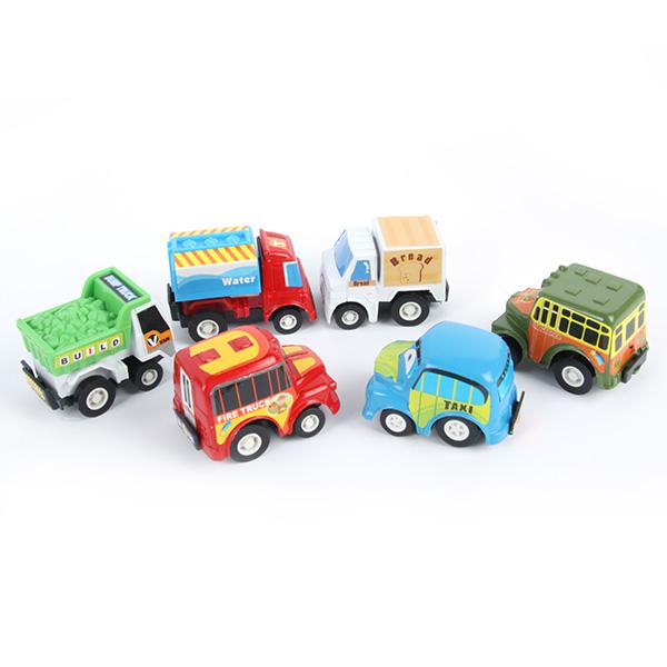 FreeShipping Lot 6pcs Fun Mini Pull Back Car Set Children Pullback Vehicle Toys Colorfu(China (Mainland))