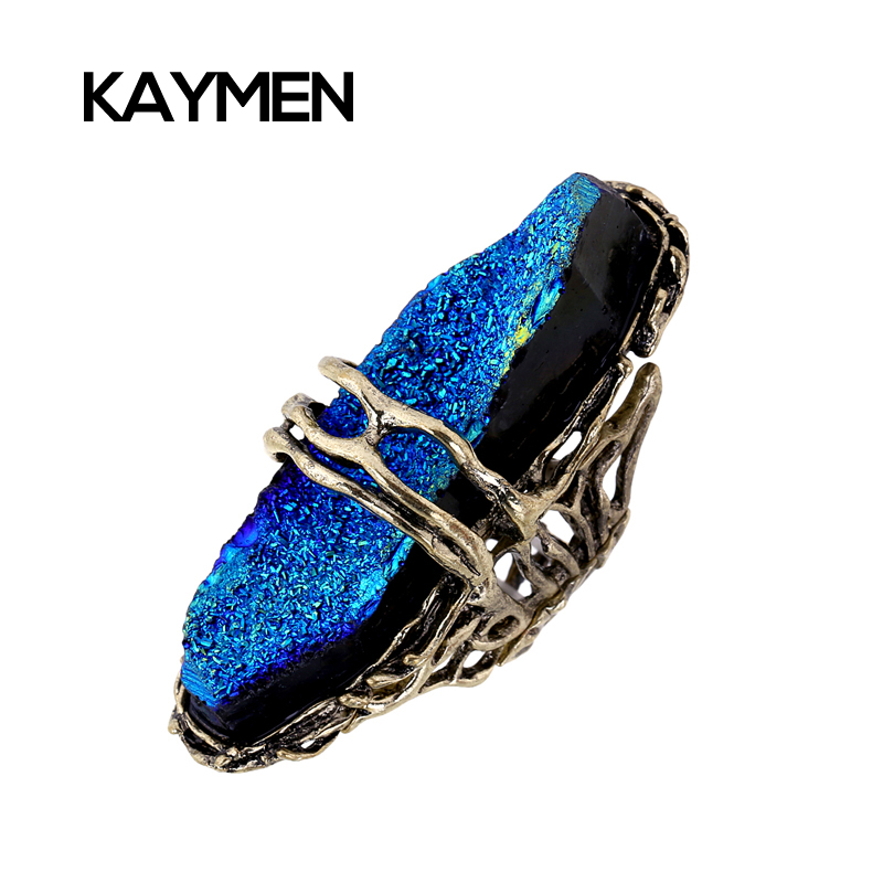 Fashion Boho Style Exaggerated Awesome Dazzling Especial Resin Stone Multilevel Elastic Finger Ring for Woman 3 Colors RI-02009(China (Mainland))