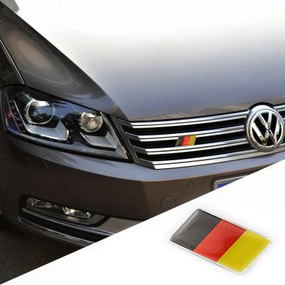Germany Flag Grill Emblem Badge Decal Sticker For VW Volkswagen CC Passat Bora Scirocco Tiguan Golf Gti Jetta Passat(China (Mainland))
