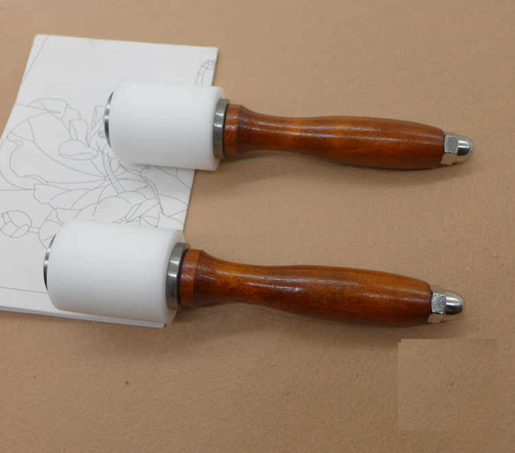Wooden Handle Leather Cutting Hammer