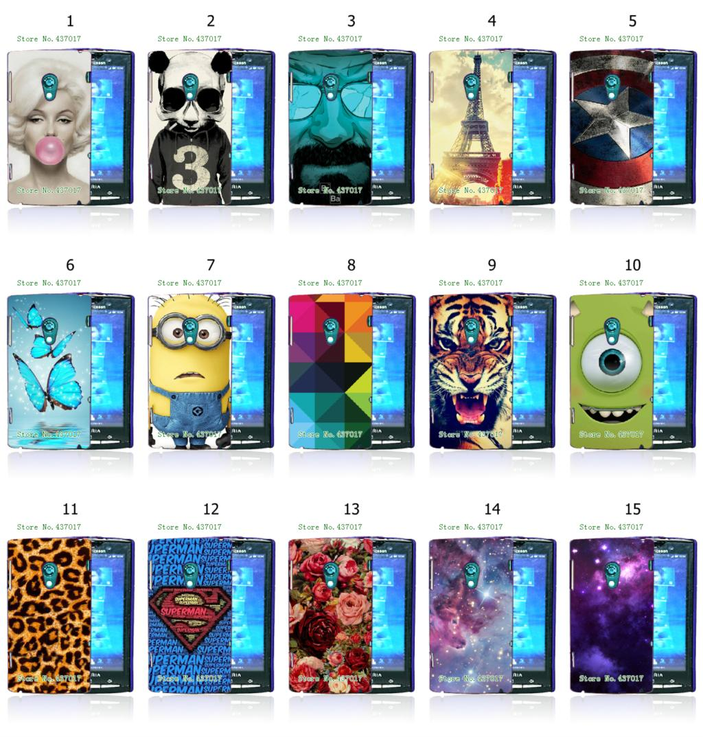 2015 new hot sell despicable me cartoon eiffel tower butterfly white hard cases for Sony Xperia X10 + free shipping(China (Mainland))