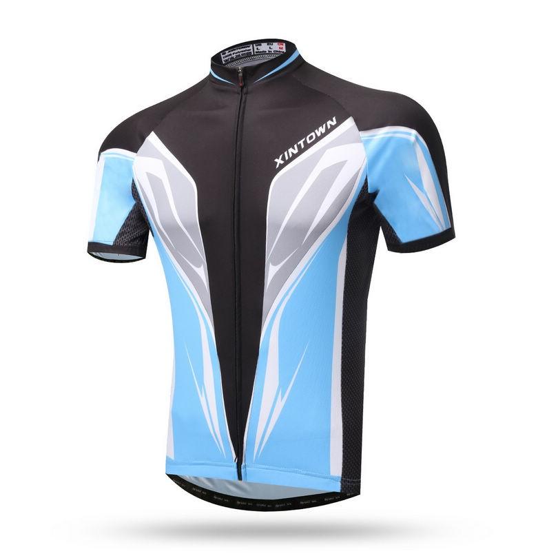 2016 XINTOWN Bike Jerseys pro Cycling clothing Shirts Black Blue bicycle jersey Team Bike top short sleeve Cycling wear