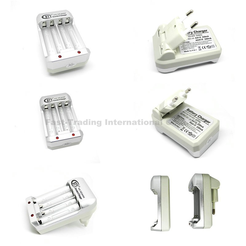 BTY N-95 US EU Plug Smart Power Charger AA AAA Ni-MH Ni-Cd Rechargeable Battery - Fast-Trading Center store