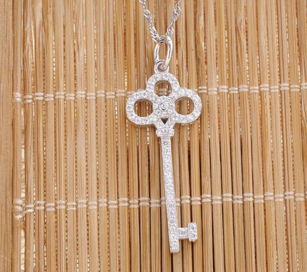 2016 brand new 925 sterling silver key pendant jewelry esterlina 925 pingente de chave de prata(China (Mainland))