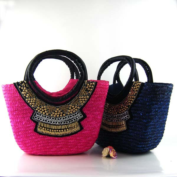 B0222 2013 new straw handmade bag handbag(China (Mainland))