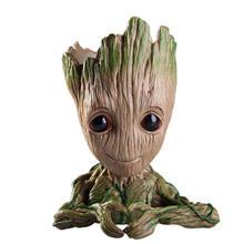 Детская Грут горшок дерево человек плетеная корзина-горшок для цветов фигурки стражи Галактики игрушка милая модель ручка-игрушка горшок(China)