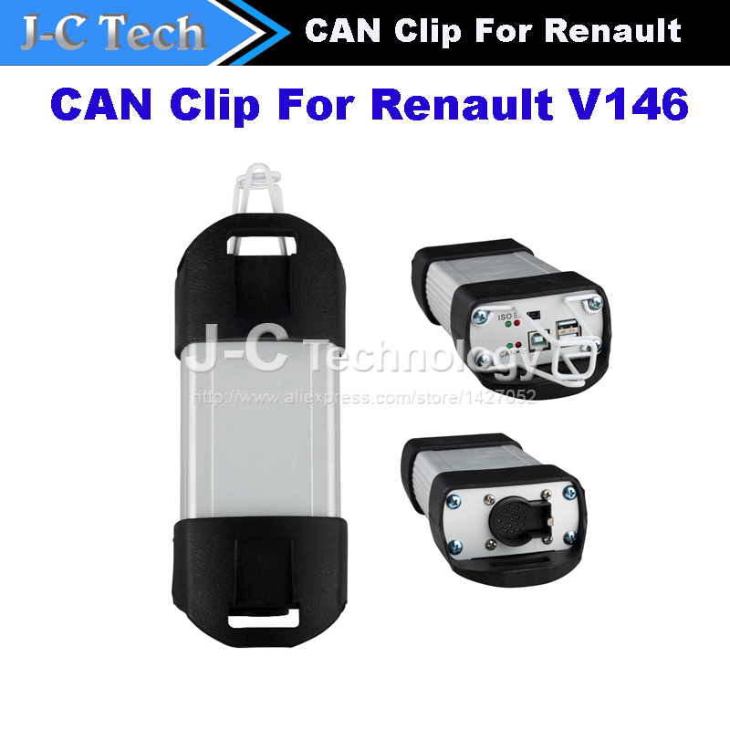 2015 New Arrival V146 Renault Can Clip scanner Diagnostic Interface For Renault With Multi-functions Support Multi-Languages(China (Mainland))