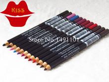 Brand Makeup Mc LIP EYE LINER PENCIL Cosmetic EYE/LIP LINER PENCIL Aloe vera & Vitamin E 1.5G 12Color/Set,Free Shipping ! HOT(China (Mainland))