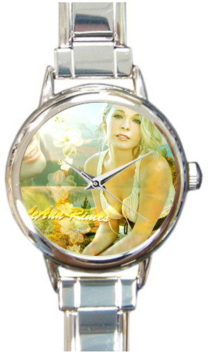 Printing American pop song and country music singer Leann Rimes stainless Wristwatch fashion top grade Hand Watch free shipping(China (Mainland))