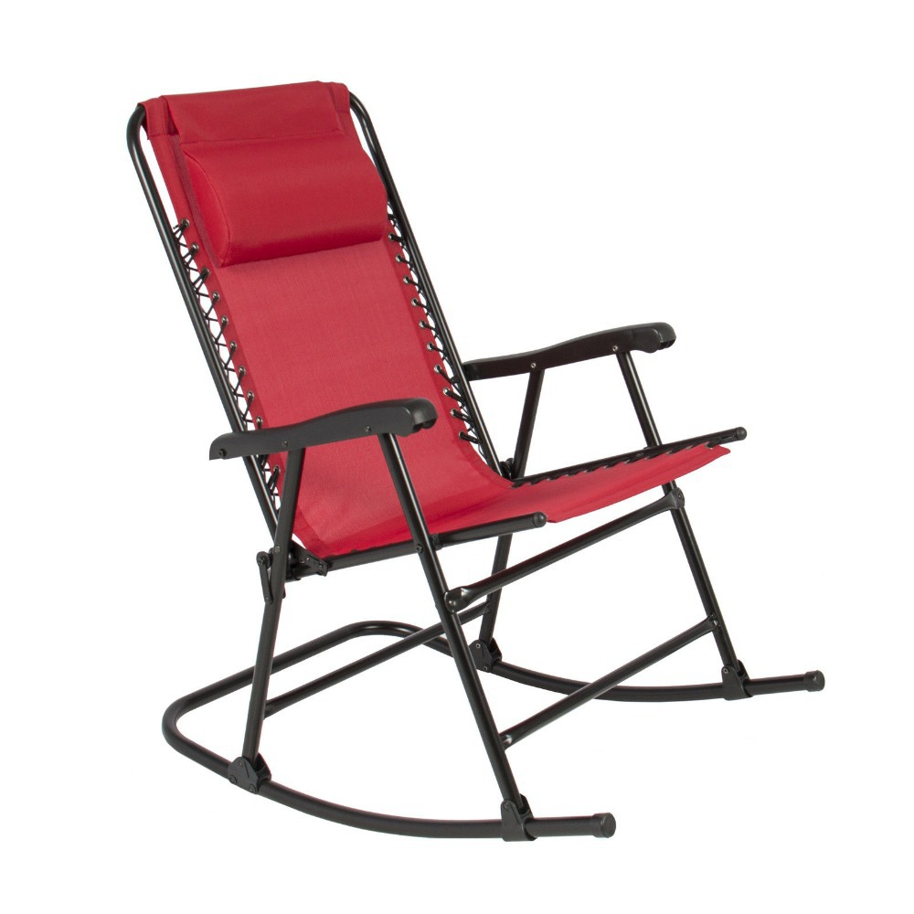 Foldable Rocker Outdoor Patio Furniture Folding Rocking Chair Red FDH9625(China (Mainland))