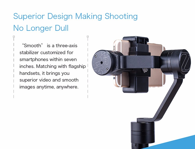 Zhiyun Z1-Smooth-C+ Handheld Edition 3-Axle Brushless Stabilizer Gimbal for 7″ Cellphone 6 6S Plus Smartphone F16638