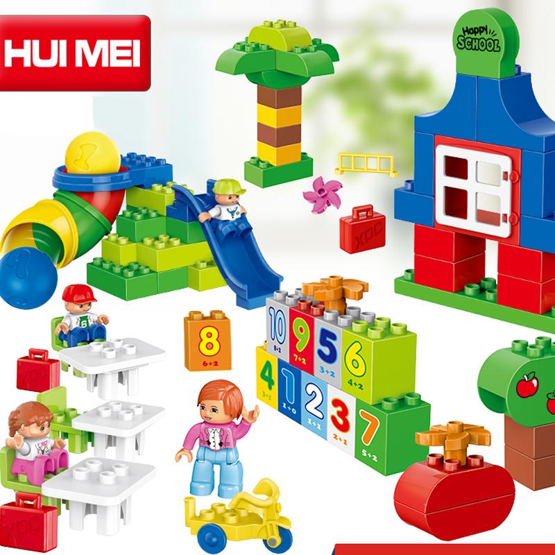 Kids Toys Building Blocks Assembled toy Compatible Minifigures magformers large particles Plastic block bricks 106 PCS