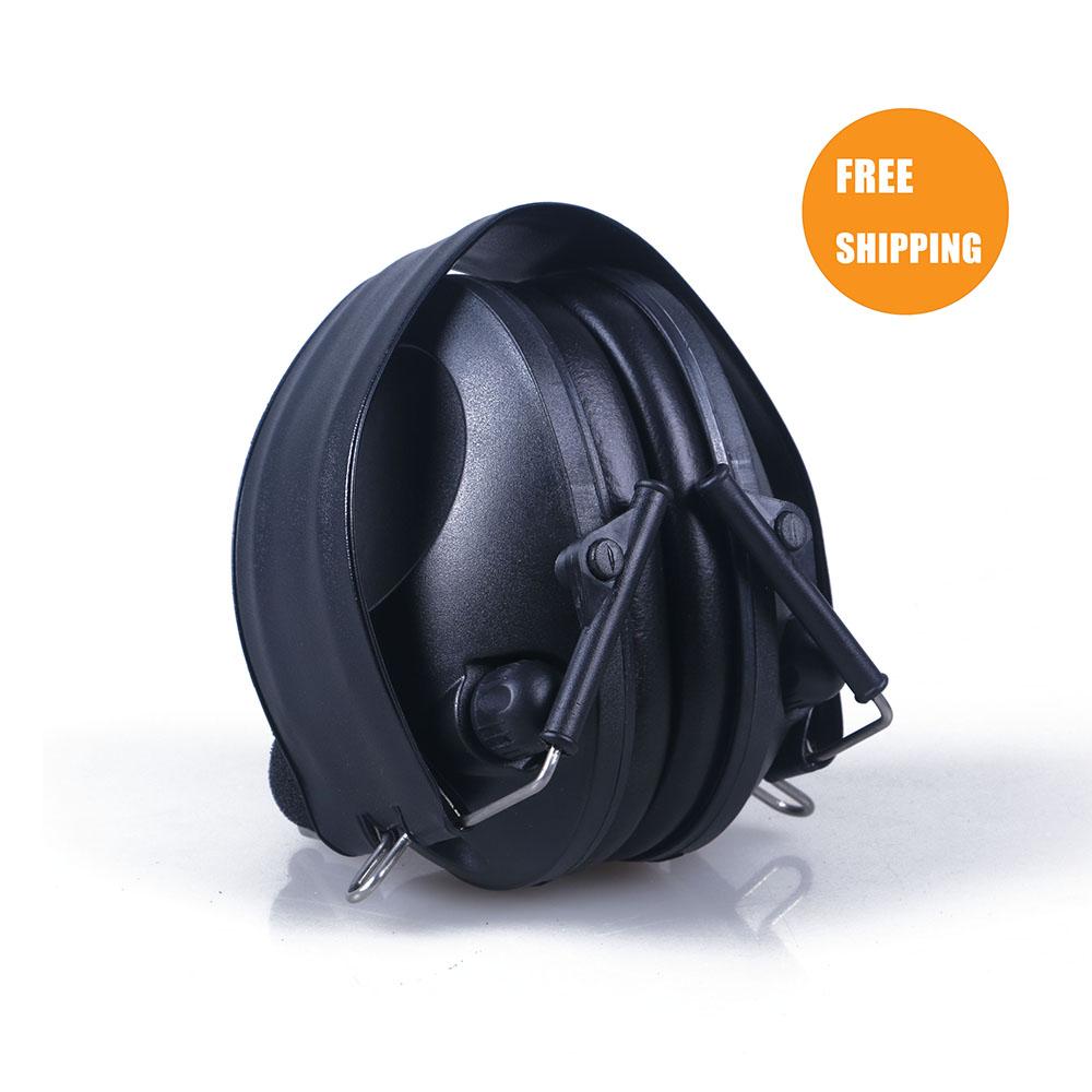 Anti-noise Sport hunting Electronic Earmuff Shooting Ear Protection Tactical Hearing Protector Earmuffs headphone free shipping