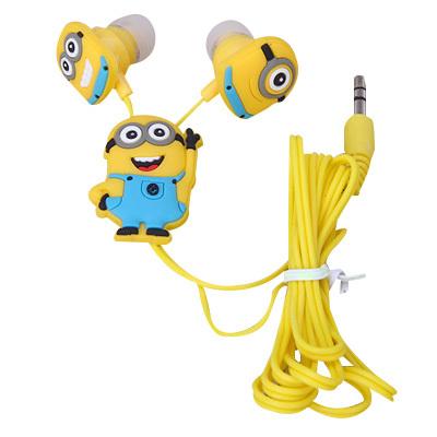 Гаджет  Cartoon in-ear wired 3.5mm earphone headphone Despicable Me Minions model headset for MP3 MP4 cell phone Headphones lq None Бытовая электроника