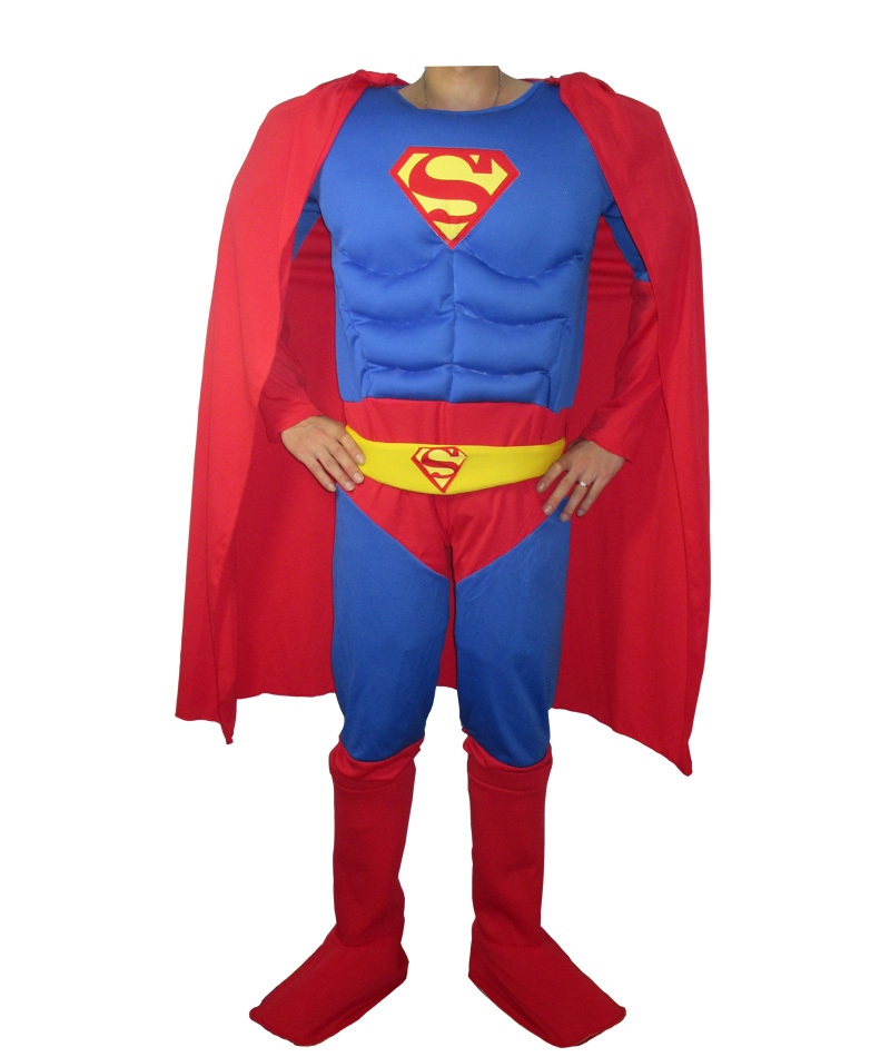 Adult Muscle Superman Costume Fantasia Halloween Costume for MenОдежда и ак�е��уары<br><br><br>Aliexpress