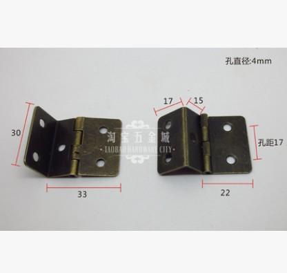 Free Shipping 30PCS Mini three open hinge antique hinge Bronze hinge Arts and crafts hinge 30X33 with 1mm(China (Mainland))