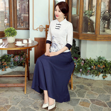 New Arrival Summer Chinese Style Cotton Linen Women Tang Suit Tops Blouse Traditional Elegant Slim Shirt M L XL XXL XXXL A0085