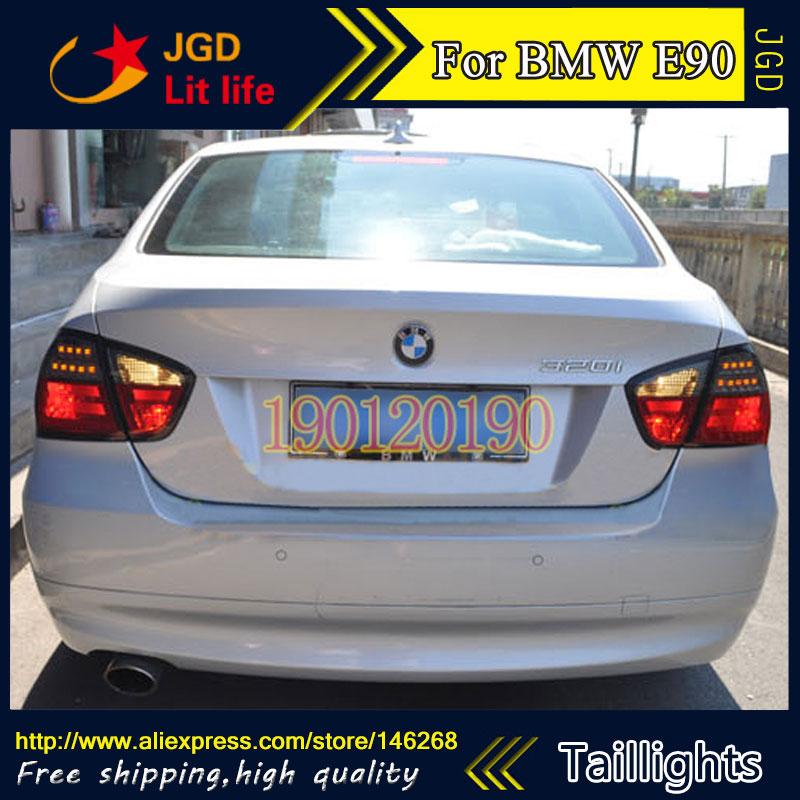 tail lights for BMW E90 316i 318i 320i 325i 2005-2008 LED taillight Tail Lamp rear trunk lamp cover drl+signal+brake+reverse(China (Mainland))