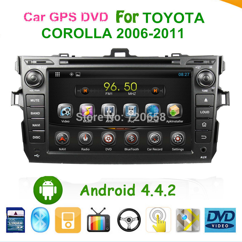 """8"""" Capacitive Screen Car Android 4.4 DVD GPS For Toyota Corolla 2007-2011 With Stereo Radio WiFi 3g DVB-T(MPEG4) ISDB-T(One Seg(China (Mainland))"""