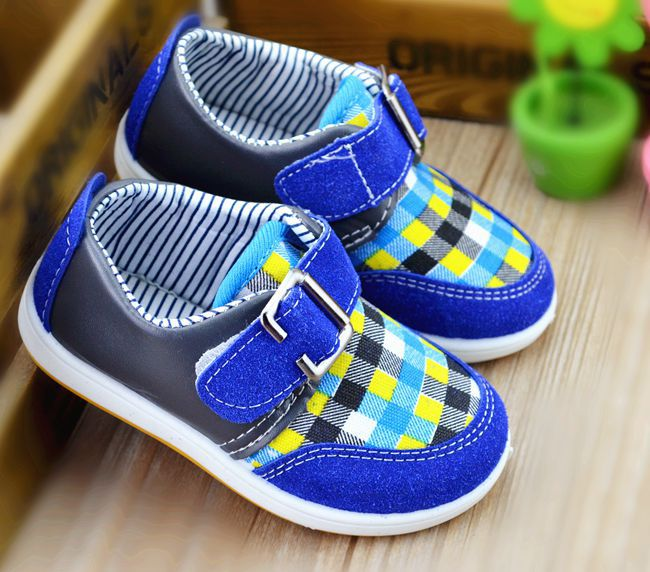 HOT New Arrival Fashion Plaid Boy Shoes Spring Boy Child Sneakers Cheap Boy Shoes 6 sizes can choose(China (Mainland))