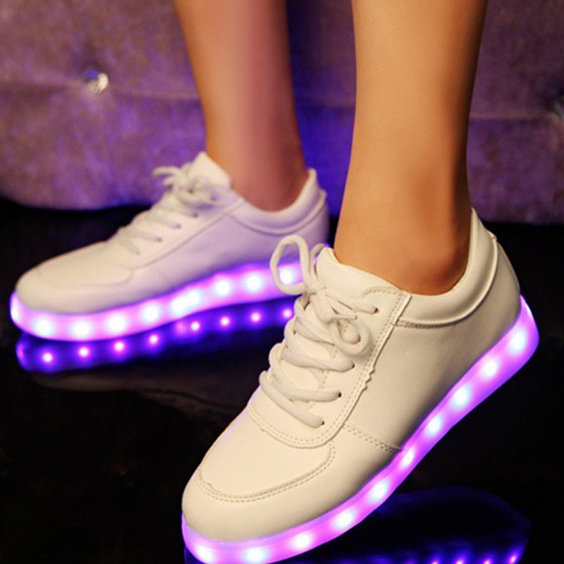 Hot Sale Light Lace Up Luminous Shoes Women Men Lovers Flat Zapatos Fashion Casual Exercise Flats LED Shoe chaussure lumineuse<br><br>Aliexpress