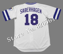 Cheap Kansas City Royals 16 BO JACKSON 18 BRET SABERHAGEN jersey 1989 Home throwback Baseball Jersey stitched S-4XL for sale(China (Mainland))