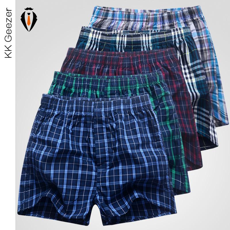 5 pcs lot mens underwear boxers shorts 100 cotton fashion underwear sexy soft plaid boxer male. Black Bedroom Furniture Sets. Home Design Ideas