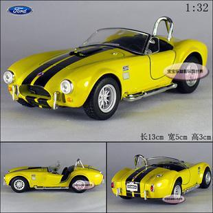 New Ford 1965 Shelby Cobra 1:32 Alloy Diecast Model Car Yellow Toy Collection B277(China (Mainland))