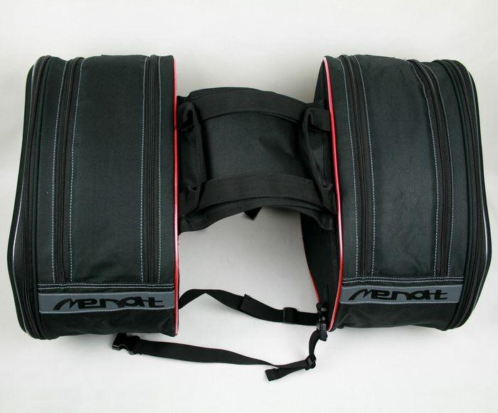 2 generations MB-010 MENAT amulet saddle bag Buckler motorcycle side bag Bilateral package 58L Bag  Volume side bag