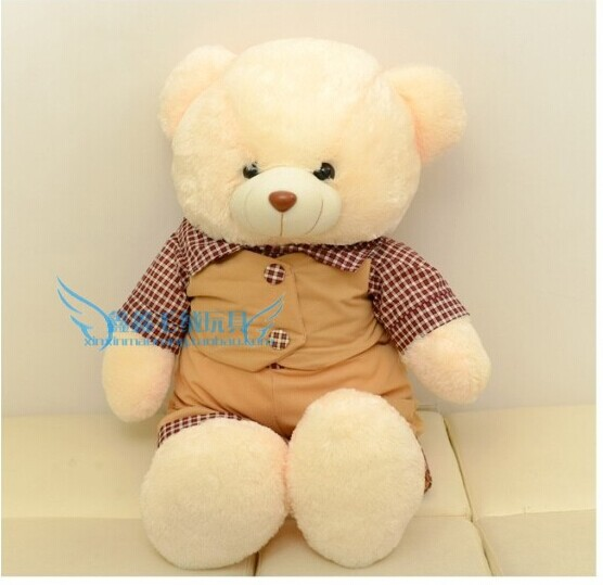 huge lovely teddy bear toy plush bear toy boy bear doll with skirt birthday gift about 110cm(China (Mainland))
