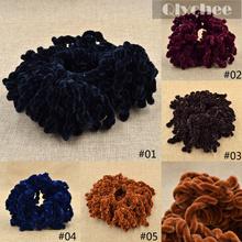 Fashion Elastic Hair Band Headband Volumising Scrunchie Maxi Ring Tie Bun Clip Hijab Scarf Volumizer Khaleeji Hair Accessories(China (Mainland))