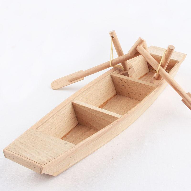 Handmade Sailing Boat Wood Craft Wooden Handicraft Smooth Ornament Traditional Creative Artwork Decoration(China (Mainland))