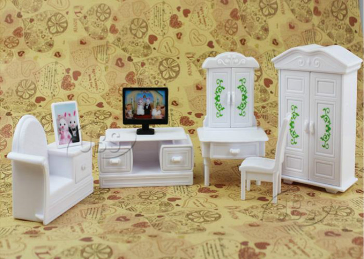 Newest miniature house television furniture set for for Sylvanian classic furniture set