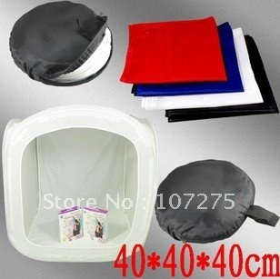 """Free shippment:Retial+wholesale:16"""" 40 x 40cm Photo Studio Shooting Tent Light Cube Box - 4 backgrounds included"""