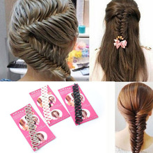 2015 Hot Sell French Braid Tool Quality Plastic Magic Hair Roller With Hook Twist Styling Bun Maker 3 Colors Available MK-150616