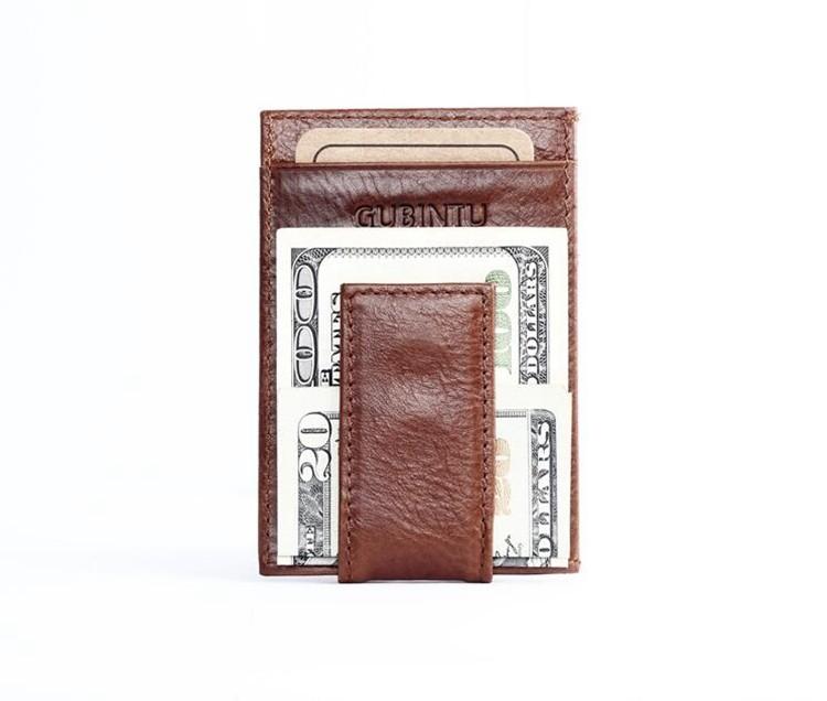 Авен - старинные подлинная нефть воск кожаный зажим для денег для мужчин, Высокое качество износостойкой мужская прохладный кошелек, Горячая распродажа небольшой мужское портмоне
