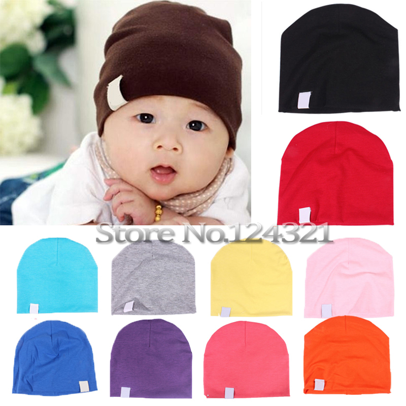Hot Sale Unisex New Born Baby Boy/Girl Cute Cotton Beanie Hat Soft Toddler Infant Cap 20 Colors(China (Mainland))