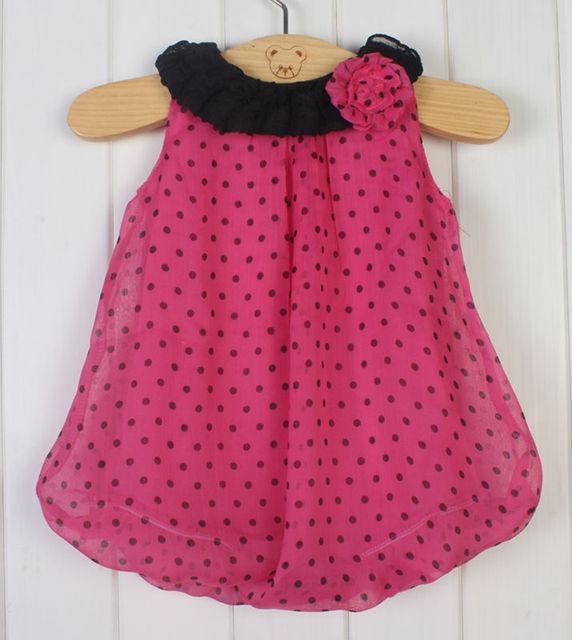 2014 New Fashion Polka Dot girl print dress brand newborn